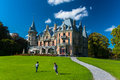Beautiful Schadau Castle in the Thun city Royalty Free Stock Photo