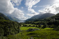 Beautiful scottish scenery glenfinnan vallye valley seen from viaduct Royalty Free Stock Image