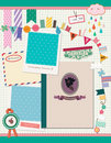 Beautiful Scrapbooking Elements Stock Image