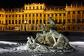 Beautiful sculpture of Schonbrunn Palace at winter Stock Images
