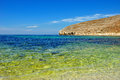 Beautiful sea against cloudless blue sky and mountines summer s seascape crimea Stock Images