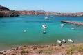 Beautiful sea bay with boats Royalty Free Stock Photo