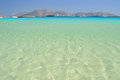 Beautiful sea at koufonisia pano islet small cyclades near naxo undiscovered and unspoilt tourist paradise in aegean archipelago Royalty Free Stock Image