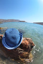Beautiful sea landscape with hat elounda crete greece Stock Image