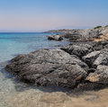 Beautiful sea landscape istland dia near crete greece Royalty Free Stock Photos