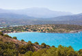 Beautiful sea landscape panorama of crete greece Stock Image