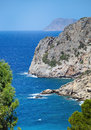 Beautiful sea landscape panorama of crete greece Stock Photography