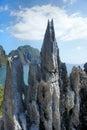 Beautiful sea landscape with sharp rocks .  Palawan Island . Royalty Free Stock Photo