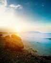 Beautiful sea long exposure shot Stock Image