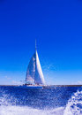 Beautiful sea and sailboat Royalty Free Stock Photography