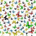 Beautiful seamless with colorful butterflies Royalty Free Stock Image