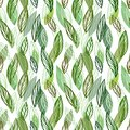 Beautiful seamless floral pattern background. Green leaves backdrop. Hibiscus leaves vector repeatable design.