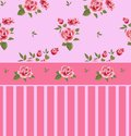 Beautiful seamless floral pattern, flower  illustration. Elegance wallpaper with of pink roses on floral background. Royalty Free Stock Photo