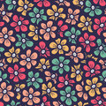 Beautiful seamless flower doodle pattern Royalty Free Stock Photo
