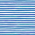 Beautiful seamless pattern with blue watercolor stripes. hand painted brush strokes, striped background. Vector illustration.