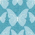 Beautiful seamless pattern with butterflies