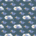Beautiful seamless pattern with funny parrots.- vector illustrat