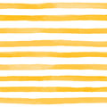Beautiful seamless pattern with Orange yellow watercolor stripes. hand painted brush strokes, striped background. Vector illustrat Royalty Free Stock Photo