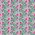 Beautiful pink and purple floral seamless pattern tile