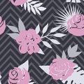 Beautiful seamless vector floral pattern background. Perfect for wallpapers, web page backgrounds, surface textures Royalty Free Stock Photo
