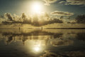 Beautiful seascape. Composition of nature. Royalty Free Stock Photo