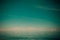 Beautiful seascape evening sea horizon and sky. Royalty Free Stock Photo