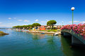 Beautiful seascape in grado italy summer scene the city centre of Royalty Free Stock Photography