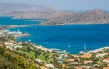 Beautiful seascape and mountains, Elounda, Crete, Greece Royalty Free Stock Photo