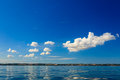 Beautiful seascape sea horizon and sky. Royalty Free Stock Photo