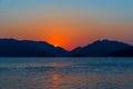 Beautiful seascape. sunrise over the sea