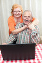 Beautiful senior couple Stock Photos