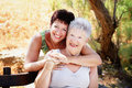 Beautiful senior mother and daughter Royalty Free Stock Photo