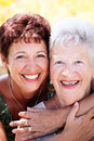 Beautiful senior mother and daughter Royalty Free Stock Images