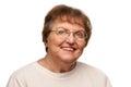 Beautiful Senior Woman Portrait on White Royalty Free Stock Photo