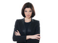 Beautiful serious caucasian business woman portrait arms crossed Royalty Free Stock Photo