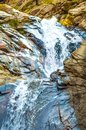 Beautiful Seven Falls Waterfall in Colorado Springs, Colorado, USA Royalty Free Stock Photo