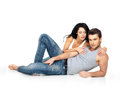 Beautiful sexy couple in love Stock Images