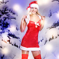 Beautiful sexy woman in christmas or santa look Royalty Free Stock Photography