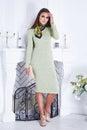 Beautiful sexy woman clothing catalog stylish fashionable Royalty Free Stock Photo