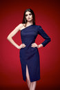 Beautiful sexy woman dress clothes collection catalogue Royalty Free Stock Photo