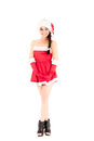 Beautiful and sexy  woman wearing santa costume Stock Photos