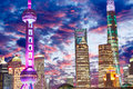 Beautiful Shanghai city night Royalty Free Stock Photo