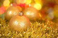 Beautiful shining Christmas ornaments Royalty Free Stock Images