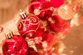 Beautiful shining Christmas ornaments Royalty Free Stock Photos