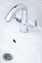 Beautiful shiny faucet Royalty Free Stock Photo
