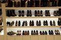 Beautiful shoes in department store Royalty Free Stock Photo