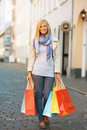 Beautiful shopping day Stock Photos