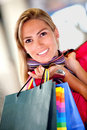 Beautiful shopping woman Royalty Free Stock Photography