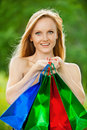 Beautiful shopping woman Royalty Free Stock Image