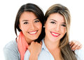 Beautiful sisters smiling Royalty Free Stock Photo